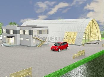 Проект универсального зала с использованием кружально-сетчатой конструкции
